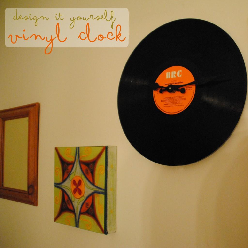 diy vinyl clock2