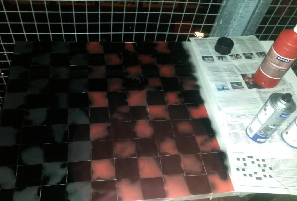 Checkberboard buiten